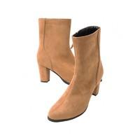 GLADD 女士麂皮粗跟踝靴