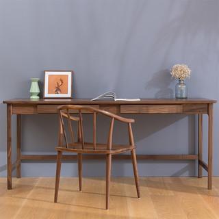 sungea 森植 ZS037 实木双人书桌 1.5m 红橡木