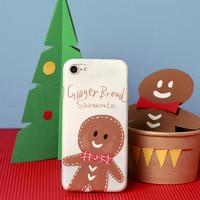 SAMANTA 沙曼塔 原创设计圣诞姜饼人苹果手机壳 iPhonex