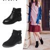 Tata/他她2018冬新款时尚休闲粗跟瘦瘦靴英伦方跟女短靴S3A48DD8 598元