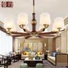 新中式吊灯实木客厅灯全铜餐厅卧室灯复古中国风大气现代简约吊灯 628元