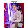 Lagogo2018秋冬季新款纯色毛边小心机上衣女长袖两件套HCSS889H14 199元