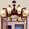 中式吊灯具仿古中国风实木陶瓷别墅餐厅复式楼梯中式客厅大吊灯 498元