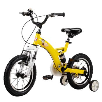 途锐达(TOPRIGHT)儿童自行车 男女宝宝童车 避震型小孩脚踏车 越野山地车 小海盗 12寸 黄色