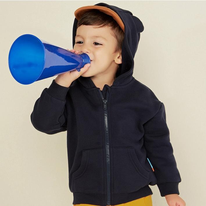 MooMoo 儿童纯棉连帽外套