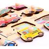 吉庆鸟 幼儿早教3D木质益智力拼图 14.9元包邮(需用券)