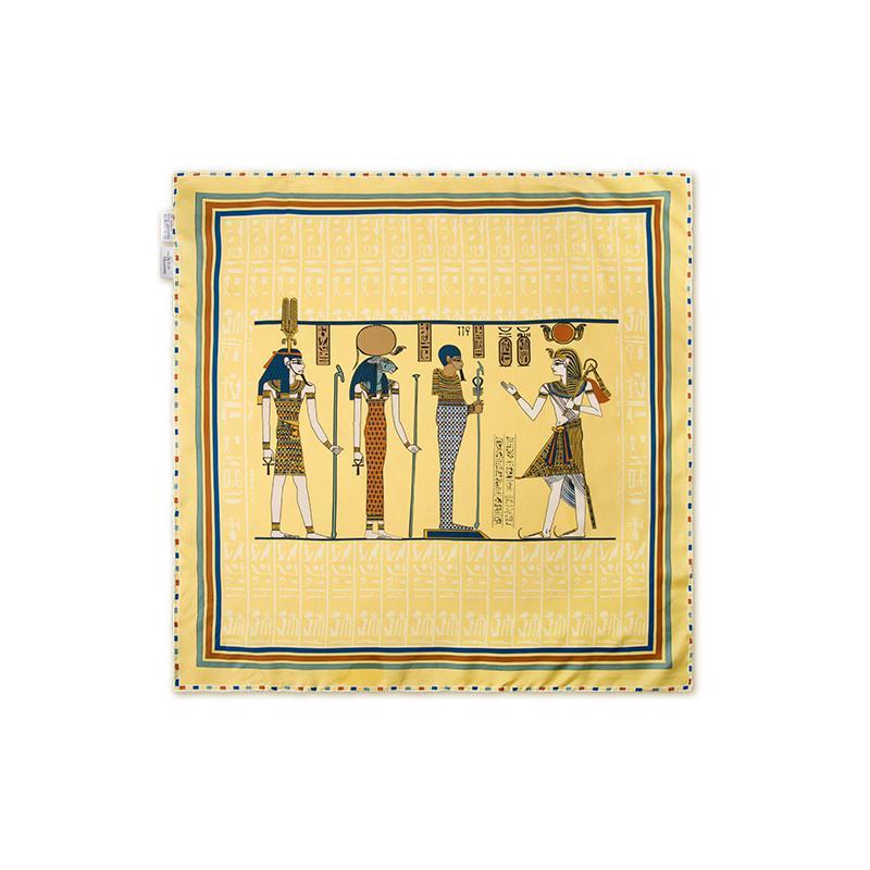 网易严选 大英博物馆 古埃及 真丝丝巾