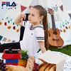 FILA斐乐童装夏季新款女童短袖T恤条纹拼接航海海军领棉上衣2018 189元