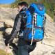探路者户外60升旅行背包户外登山包双肩背包男女防水罩防雨罩一体成型大容量ZEBE90890 天空蓝/深蓝 60升