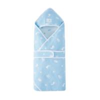 PurCotton 全棉时代 婴儿6层纱布提花抱被 80*80cm 蓝底星星小兔