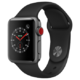 Apple Watch Series 3智能手表(GPS+蜂窝网络款 38毫米 深空灰色铝金属表壳 黑色运动型表带 MTGL2CH/A)