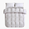 当当优品磨毛冬被 全棉人字斜纹超细羽丝绒被芯200x230cm双人被子 浅灰 169元