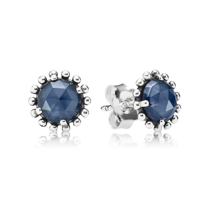PANDORA潘多拉 午夜之星水晶耳钉 蓝色 290561NBC *2件