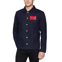 限尺码:Calvin Klein Jeans Coaches Jacket 41I5037 男士教练夹克