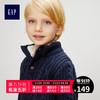 Gap男婴幼童亨利领针织衫宝宝毛衣J W 儿童针织外套秋装 *3件 347元(合115.67元/件)