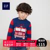 Gap男婴幼童 圆领套头毛衣398050小童印花洋气针织衫儿童冬装 *4件 360元(合90元/件)