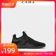 ZARA 15314302040 黑色科技面料运动休闲鞋板鞋