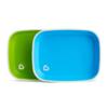 Munchkin 满趣健 宝宝自主进食防溅餐盘 绿+蓝 2只装 *2件 99元(合49.5元/件)