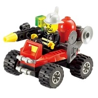 KAZI 开智 8059 泡沫救援车 积木玩具
