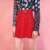 Lily新款女装A字拉链短裙商务通勤红色半身裙117430F6511 149元