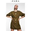 ZARA 01971160505 女装纽扣及打褶装饰连衣裙 149元