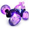 活石 儿童玩具车遥控车翻斗车充电音乐遥控汽车特技车男孩玩具 伸缩版-21厘米蓝 25.9元
