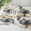 盖娅风景餐具套装欧式家用陶瓷碗盘子杯简约餐盘子 碗 杯子纯色16头 129元包邮(需用券)