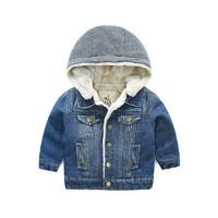 21日0点、历史低价:I.K 印象童年 男童冬装牛仔棉衣