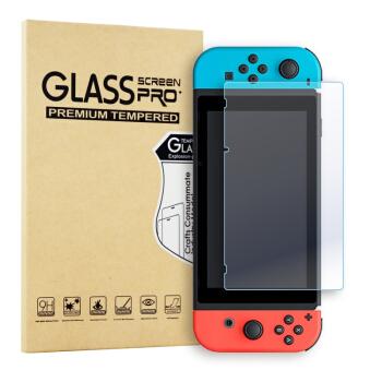 新视界 任天堂Nintendo Switch挂绳收纳包+高清钢化膜+摇杆帽1对