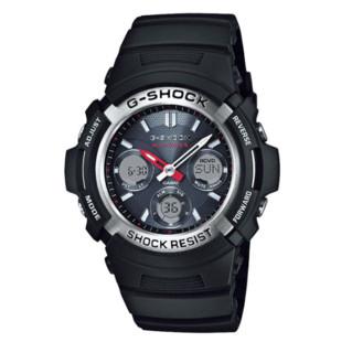 CASIO 卡西欧 G-SHOCK AWG-M100-1A 男士太阳能电波腕表