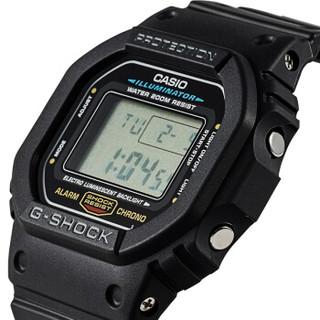 CASIO 卡西欧 G-SHOCK系列 DW-5600E-1V 复古方块电子表