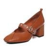 Belle/百丽秋季专柜同款摔纹牛皮玛丽珍鞋R5S2DCQ7 318元