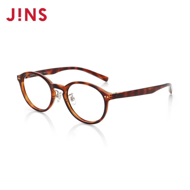 JINS 睛姿 KRF17A101 含镜片儿童近视镜 棕色玳瑁