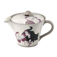 AITO 濑户烧懒人茶壶 芙蓉与猫 320ml