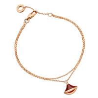 Bvlgari 宝格丽 DIVA系列  BR857194 女士18K玫瑰金手链