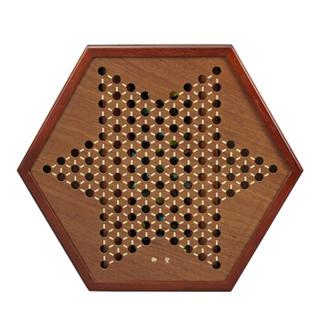 御圣 YX00013 跳跳棋 宫廷2六角形跳棋盘+备用子12颗