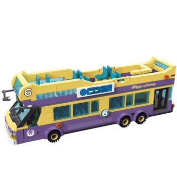 ENLIGHTEN 启蒙 城市系列 1123 小颗粒拼装模型-观光巴士