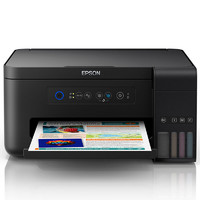 EPSON 爱普生 L4158 墨仓式彩色喷墨一体机 (黑色、无线、A4、手动、分体式墨盒、喷墨)