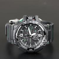 CASIO 卡西欧 G-SHOCK GW-A1100-1A3 男士太阳能电波罗盘运动手表