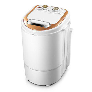 TCO 半自动迷你洗衣机  单筒小型  附赠甩干篮