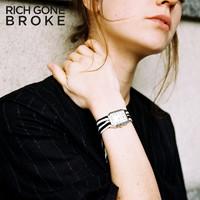 RICH GONE BROKE 经典姿态系列 黑白练习曲 女士时装腕表