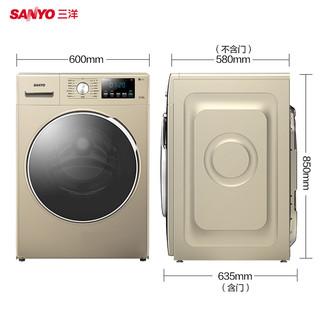 Sanyo 三洋 WF100BI576ST 10公斤 滚筒洗衣机