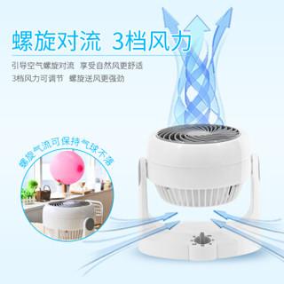 IRIS 爱丽思 PCF-HD15NC 迷你台式电风扇(白色) 空气循环 家用静音