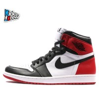 NIKE 耐克 Air Jordan 1 Black Toe 555088-125 男子篮球鞋