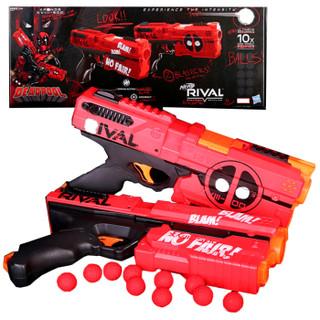 Hasbro孩之宝配件补充装 软子弹nerf 热火竞争者系列面具光 E0861  克洛诺斯发射器死侍特别版