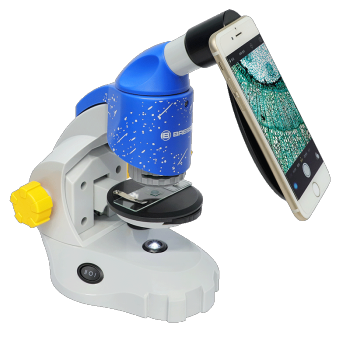 BRESSER 宝视德 50-10168 连续变倍双用途显微镜 流星蓝