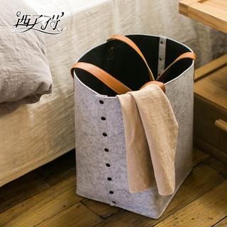 西子荷 毛毡布艺脏衣篓