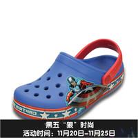 crocs 卡骆驰 202678 美国队长儿童沙滩凉鞋 学院蓝/红色-4S0 C6/7
