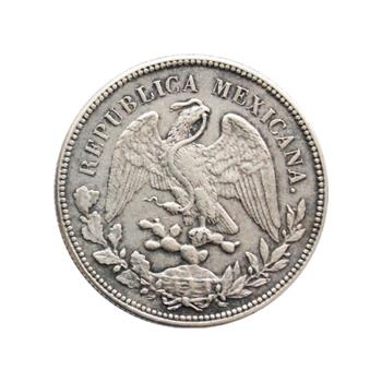阅古今 墨西哥大飞鹰一元银币 裸币