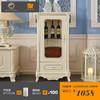 聚法丽莎家具欧式酒柜实木客厅装饰柜法式单门玻璃红酒柜储物边柜 1058元
